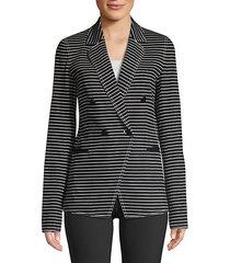 devin asymmetric striped jacket