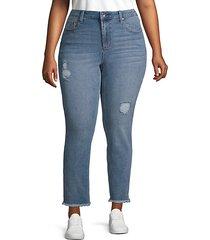plus high-rise skinny jeans