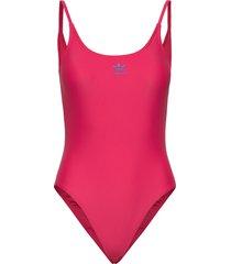 lrg logo swim baddräkt badkläder rosa adidas originals