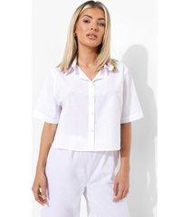 mix & match lichte pyjama blouse, white