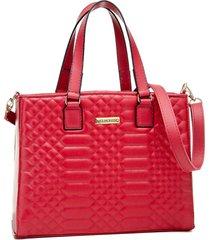 bolsa transversal alice monteiro metalassê quadriculada vermelho