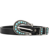 alanui stoned-hardware belt - black