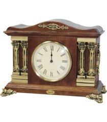 uniquewise traditional desktop clock wood case