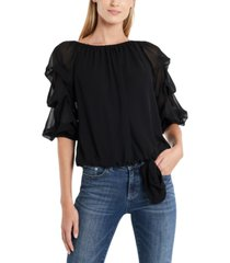 cece off-the-shoulder ruffled-sleeve top