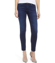 women's ag the legging ankle super skinny jeans, size 23 - blue