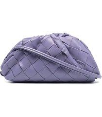 bottega veneta the pouch coin purse - purple