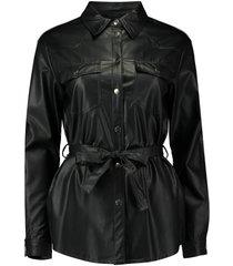 blouse pu zwart