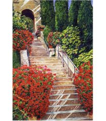 "david lloyd glover tuscany garden staircase canvas art - 37"" x 49"""