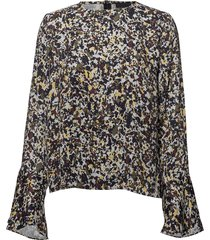 2nd dott printed blouse lange mouwen blauw 2ndday