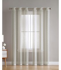 hatfield woven semi sheer 38x84 panel pair