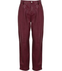 red valentino leather trousers