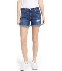 7 for all mankind roll cuff denim shorts, size 28 in broken twill vanity w/dest at nordstrom