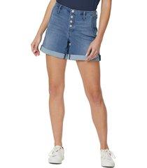women's nydj high waister a-line denim shorts, size 2 - blue
