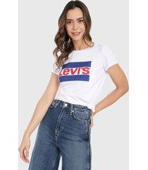 camiseta blanco-azul-rojo levis