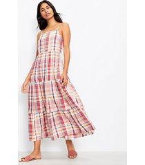 loft lou & grey plaid pocket maxi dress