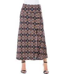 women's paisley print ankle length skirt