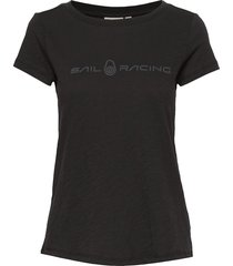 w gale tee t-shirts & tops short-sleeved svart sail racing