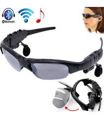 audífonos bluetooth, nuevo jugador de música sin manos estéreo de los vidrios de sun del auricular del receptor de cabeza de audifonos bluetooth manos libres  de las gafas de sol de la llegada (gris)