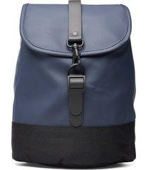 drawstring backpack ryggsäck väska blå rains