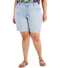 style & co cheeky raw-hem bermuda shorts, created for macy's