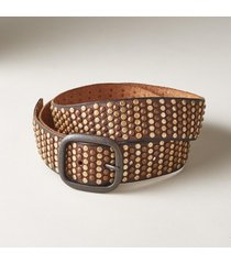 women's sundown genuine leather studded belt
