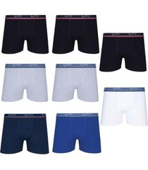 kit 8 cuecas boxer lupo algodão cotton masculina