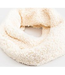katie solid sherpa infinity scarf - ivory