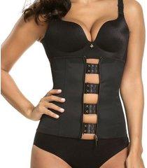 las mujeres zipper corsé de goma la quema de la grasa del abdomen de acero corset hueso adelgazamiento