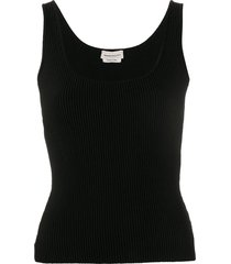 alexander mcqueen ribbed knit vest - black
