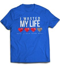 i wasted my life game gamer funny gift tee t shirt jersey