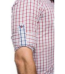 koszula bexley 2021 długi rękaw slim fit bordo