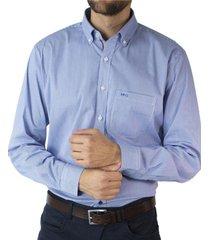 camisa trevira microdiseño cuadro spandex regular fit mcgregor