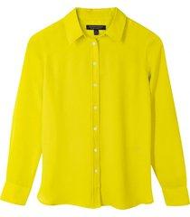 blusa dillon classic amarillo banana republic