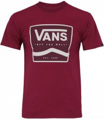 camiseta vans graphic off the wall - masculina - vinho