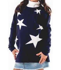 sweater stars casual azul going merry