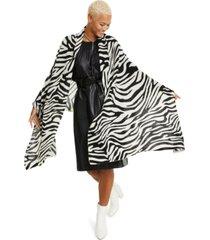 charter club zebra-print cashmere scarf, created for macy's