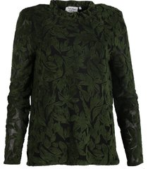 another label blouse c43-619007 groen