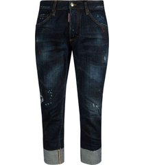 dsquared2 fitted cropped jeans