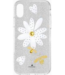 custodia per smartphone con bordi protettivi eternal flower, iphoneâ® x/xs, multicolore chiaro
