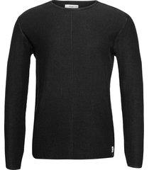 knitwear gebreide trui met ronde kraag zwart replay