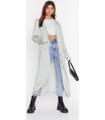 sleek in and sleek out satin duster jacket