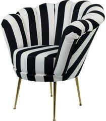 fotel biało czarny pasy tapicerowany lux-3