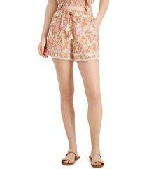 vanilla star juniors' printed lace-trim shorts