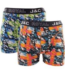 j&c heren boxer 2 pak 30056-l