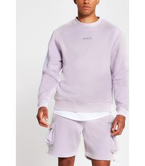 river island mens prolific purple reflective sweatshirt