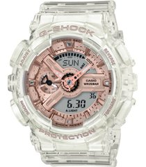 g-shock women's analog-digital clear resin strap watch 45.9mm