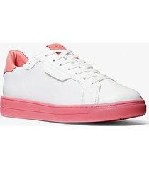 mk sneaker keating in nylon - bianco ottico cangiante (bianco) - michael kors