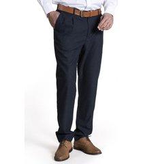 pantalon franel lana azul petróleo rockford