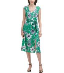 jessica howard petite v-neck belted dress