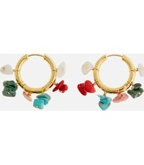 anni lu women's carine hoop earrings - multi